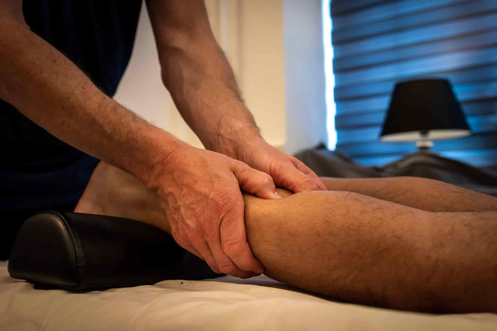 Massage af ben og balder